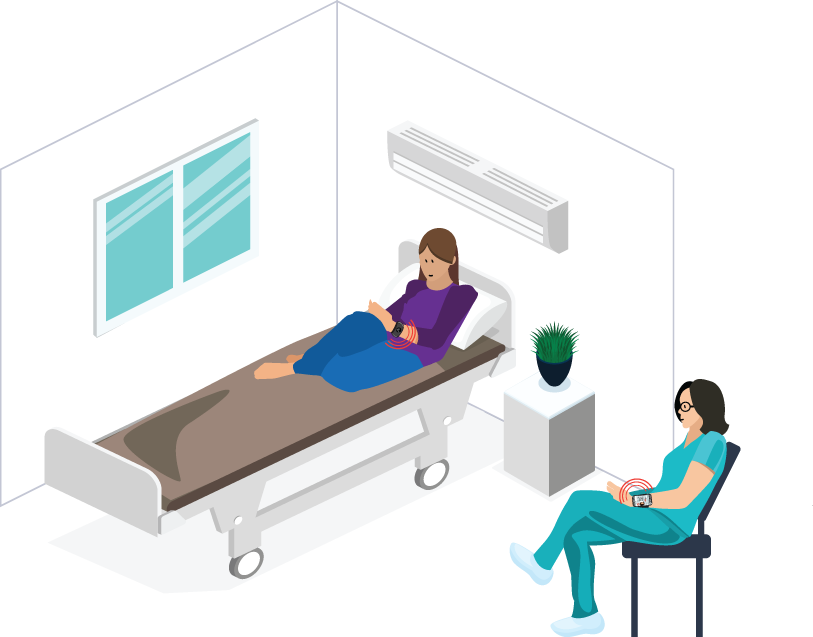 Minder with Patient Illustration